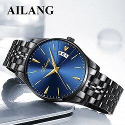 Zegarek ailang marki zegarek analogowy mężczyźni proste dorywczo mody wodoodporny zegarek męski Zegarki mechaniczne    -