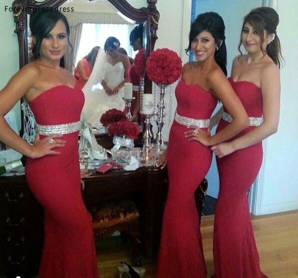 Burgundy Bridesmaid Dress Cheap Mermaid Summer Garden Wedding Party Guest Maid Of Honor Gown Plus Size Custom Made