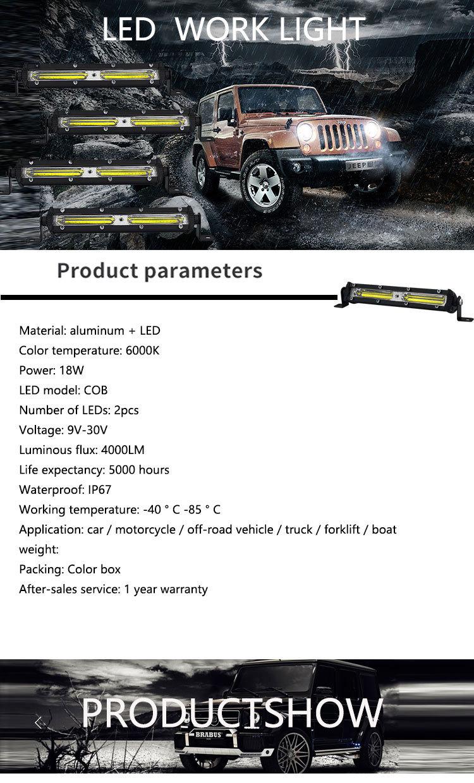 Светодиодная панель 18 Вт 4000 лм для внедорожников грузовиков