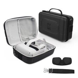 Image 1 - נסיעות מגן מקרה עבור צוהר Quest 2/1 VR משחקי אוזניות מגע בקרי נשיאת תיק כוללת עדשה להגן על כיסוי