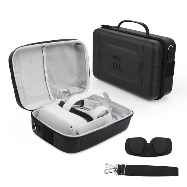 נסיעות מגן מקרה עבור צוהר Quest 2/1 VR משחקי אוזניות מגע בקרי נשיאת תיק כוללת עדשה להגן על כיסוי