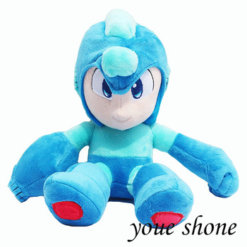 27cm Megaman Plush Cosplay Anime Rockman Megaman Plush Toy Soft Stuffed Doll Toys For Kids Birthday Christmas Best Gifts cute sharpei with hat plush toy stuffed puppy cosplay pet toy plush animal toy children kids birthday christmas gifts