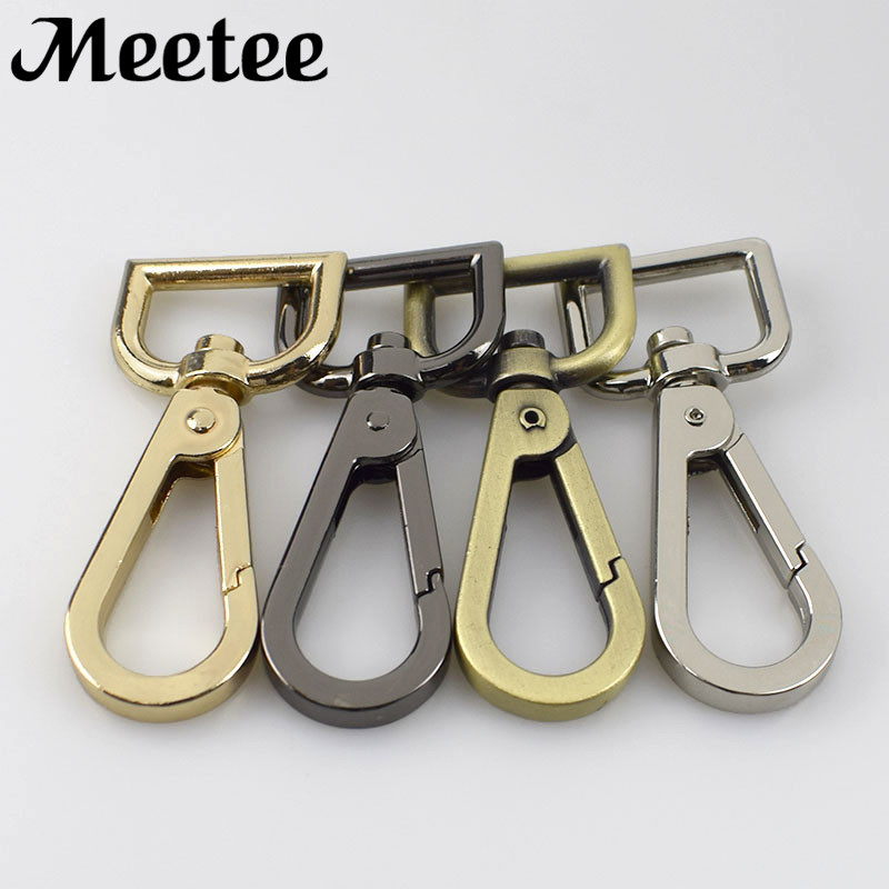 10pcs Metal Bag Swivel Trigger Clips Snap Hook Dog Lead Webbing Strap Tape