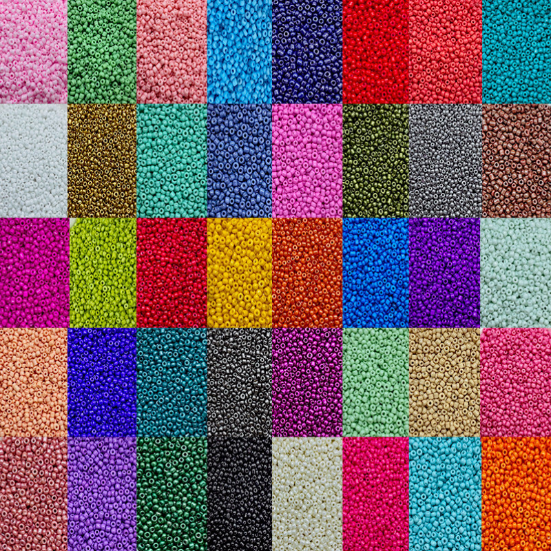 2mm Small Glass Beads, Multi-color Small Beads for Jewelry Making, Bracelets, Necklaces, Handmade DIY Accessories (1000Pcs)