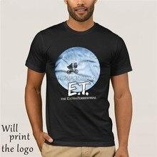 Hot 2019 di Estate Maglietta degli uomini di Modo Licenza ufficiale E. t. T-Shirt Biker Nella Luna 3xl 4xl 5xl da Uomo