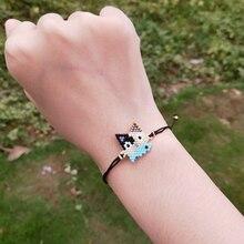 FAIRYWOO Cat Bracelet Miyuki Bead Bracelets Cute Fish Charm Bangles Friendship For Women Fashion Jewelry Kids Gift