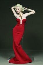 Женская одежда в масштабе 1:6 красное платье для 12 дюймовой