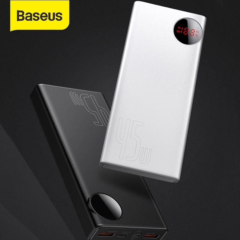 Baseus 45W 20000mAh Power Bank USB Type C PD Fast Charging Powerbank For Smartphone Laptop Porable