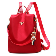 WOMENS Bag Korean-style Casual Versatile Student School Bag-Fashion Simple Backpack Anti-Theft on