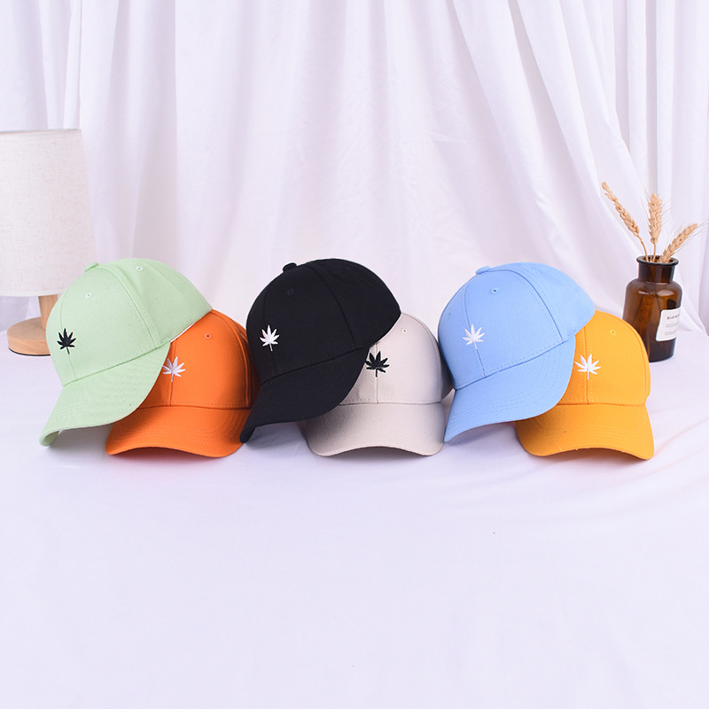 2020 New Arrival Hot Sell Casual Kids Baseball Cap Embroidery Leaves  Summer Hat Outdoor Adjustable Hip Hop Hats Casquette