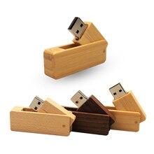 Pendrive USB 2,0 de madera con cuchillo cuadrado del ejército, unidad Flash Usb de 64GB, 32GB, 16GB, 4GB, memoria USB para regalo de boda (10 logotipo personalizado gratis)