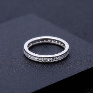 Image 5 - GEMS בלט 0.33Ct Luxe עתיק גלילה EF צבע Moissanite טבעת 925 סטרלינג כסף נישואים לתכשיטי נשים 2mm