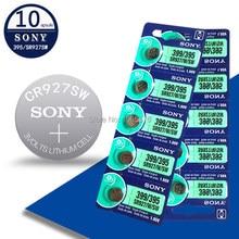 10 pces novo para sony 395 sr927sw 399 sr927w ag7 lr927 1.55v assista bateria botão de óxido de prata pilha da moeda feita no japão