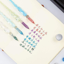 7 Pieces/set Crystal Glass Dip Pen Water Fountain Pen Set Elegant Writing Decoration Gift OUJ99 dip 7