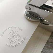 New Design Your Own Custom Picture Logo Letter Arabic language Personalized Embosser Stamp for wedding name date initials
