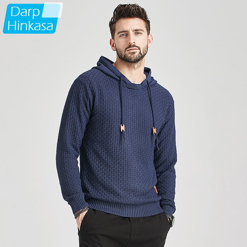 2020 New Men Winter Warm Hoodies Fashion Casual Knit Sweater Men High Quality Autumn Slim Hooded Men Sweater Pullover Coat 1