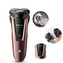 Philips S1060 golarka elektryczna obrotowy akumulatorowy nadaje się do mycia maszynka do golenia z trzema pływającymi głowicami dla mężczyzn Razor Triple Blade
