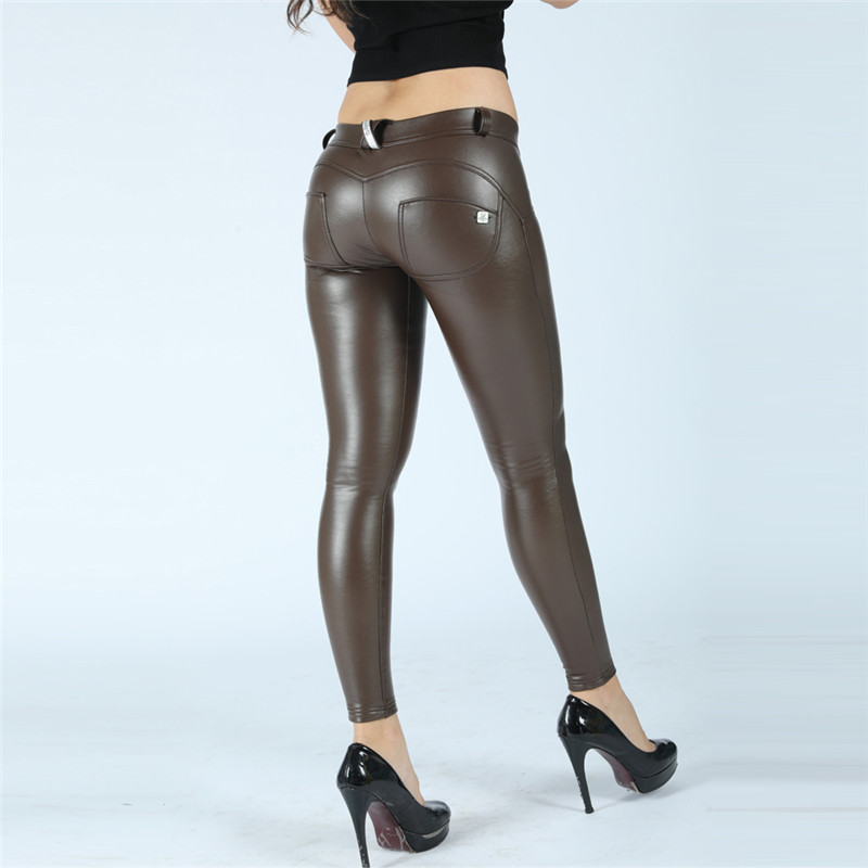 Four Ways Stretchable Melody Pants Pleather Maroon Winter Leggings Veg Tan Leather Leggings