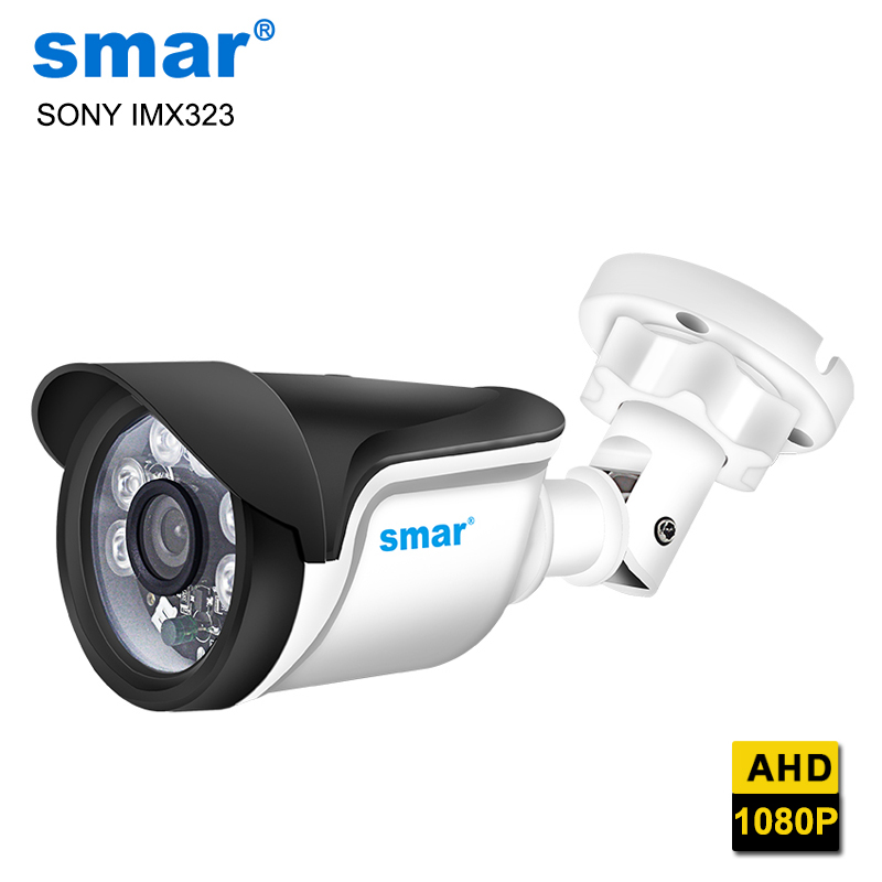 Smar SONY IMX323 Sensor AHD Camera Outdoor 1080P Home Night Vision Security Camera 6PCS Nano IR Led With IR-Cut For AHDH DVR
