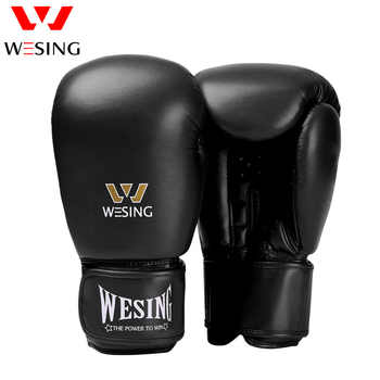 Wesing Micro Fiber Leather Boxing Gloves Adult Fight Gloves for Kickboxing Muay Thai Red Blue Black 8 10 12 14 16 oz - DISCOUNT ITEM  0% OFF All Category