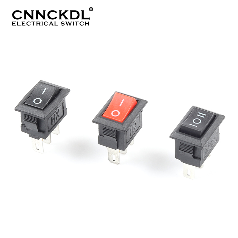 10 Pcs/Lot KCD11 3 Pin 10X15mm Snap-in Push Button Switch 3A/250V Mini SPST 2/3 Position Boat Rocker Power Switches(China)