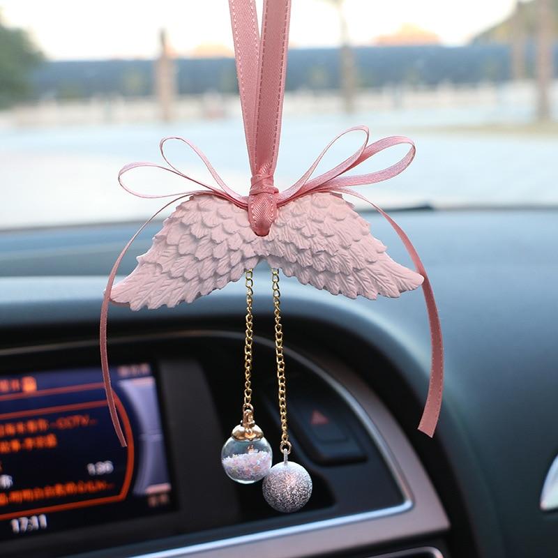 Автомобильные украшения Крыло ангела двухстороннее автомобильное освежитель воздуха висячие украшения подарок для салона автомобиля домашняя комната - Название цвета: white wing