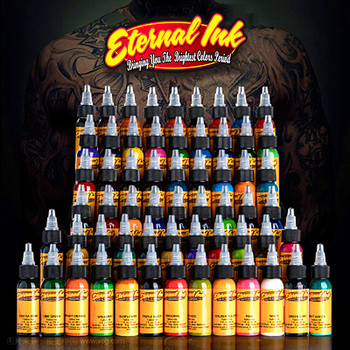 (25 Color Tattoo Ink Set)Tattoo & Body Art Permanent Makeup Pigment Color Tattoo Ink Sets 1 Oz Body Paint