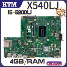цена на X540L for ASUS F540L X540LJ F540LJ laptop motherboard X540LA mainboard test OK i5-5200U cpu DDR3-4GB-RAM