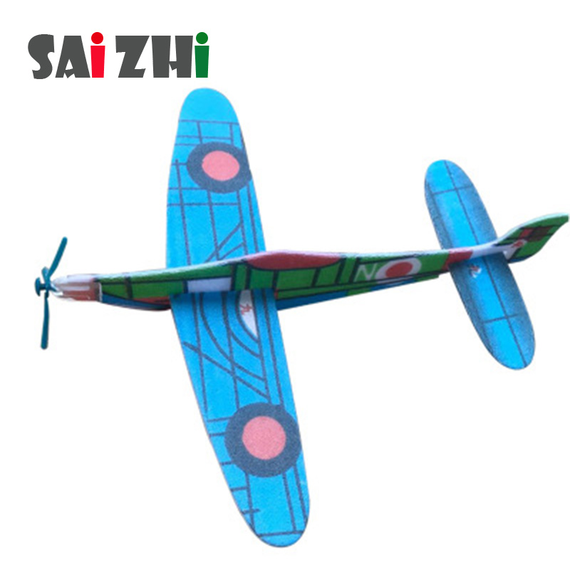 Saizhi DIY Hand Throw Flying Glider Planes Toys For Children Foam Aeroplane Model Physics Experiments Science Model Toy SZ3204