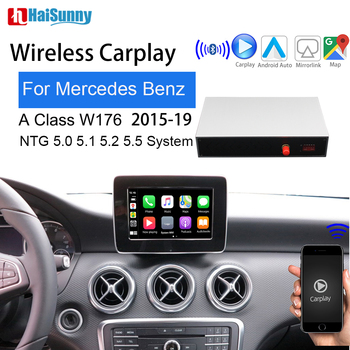 Wireless carplay For Mercedes W176 A class Support NTG 5.0 2015-2019 Android auto Mirror Smart Screen Reverse camera navigation image