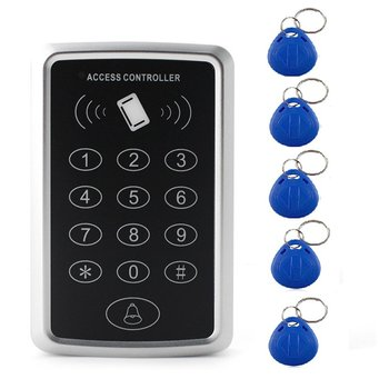 Access Controller RFID Access Control Keypad Waterproof Rainproof Cover digital panel Card Reader Door Lock System 5 ID keychain цена 2017