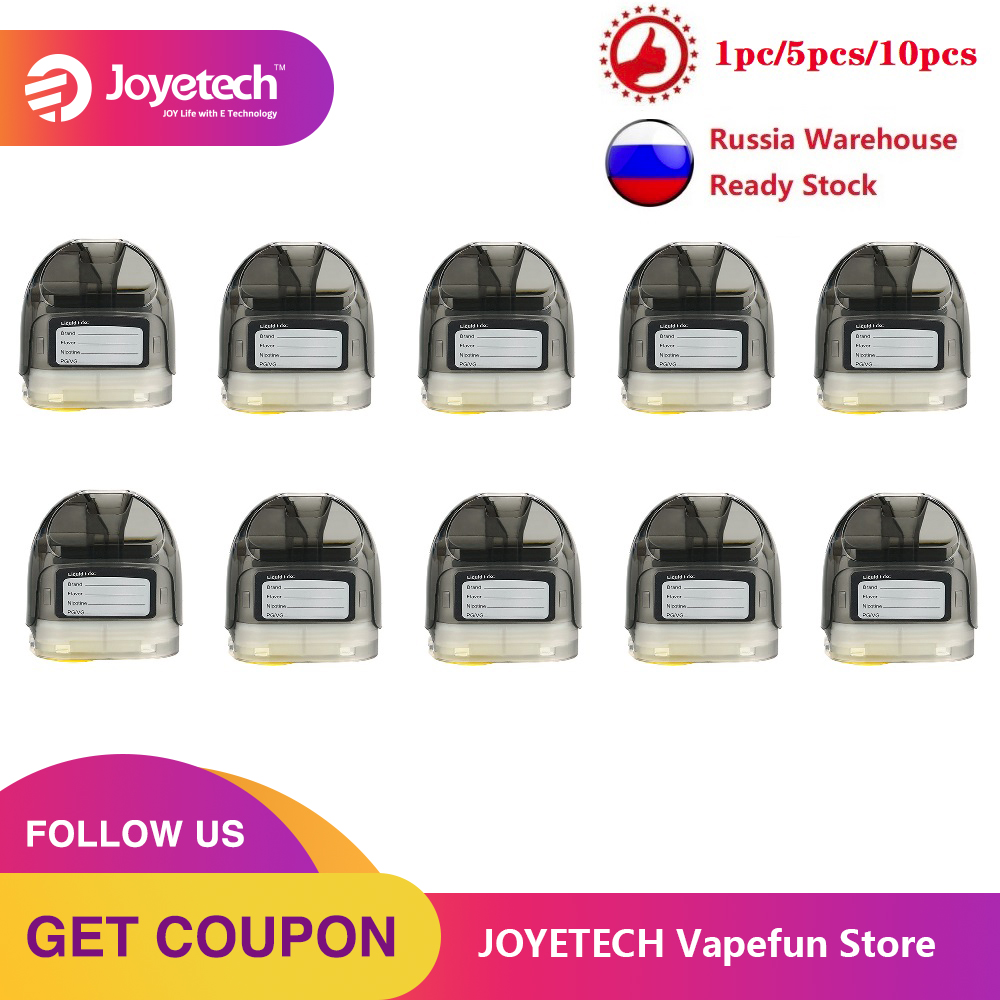 1pc 10pcs Original Joyetech Atopack Magic Pod Cartridge 2ml/7ml Capacity For Atopack Magic Kit With 0.6ohm NCFilm Heater E-cig