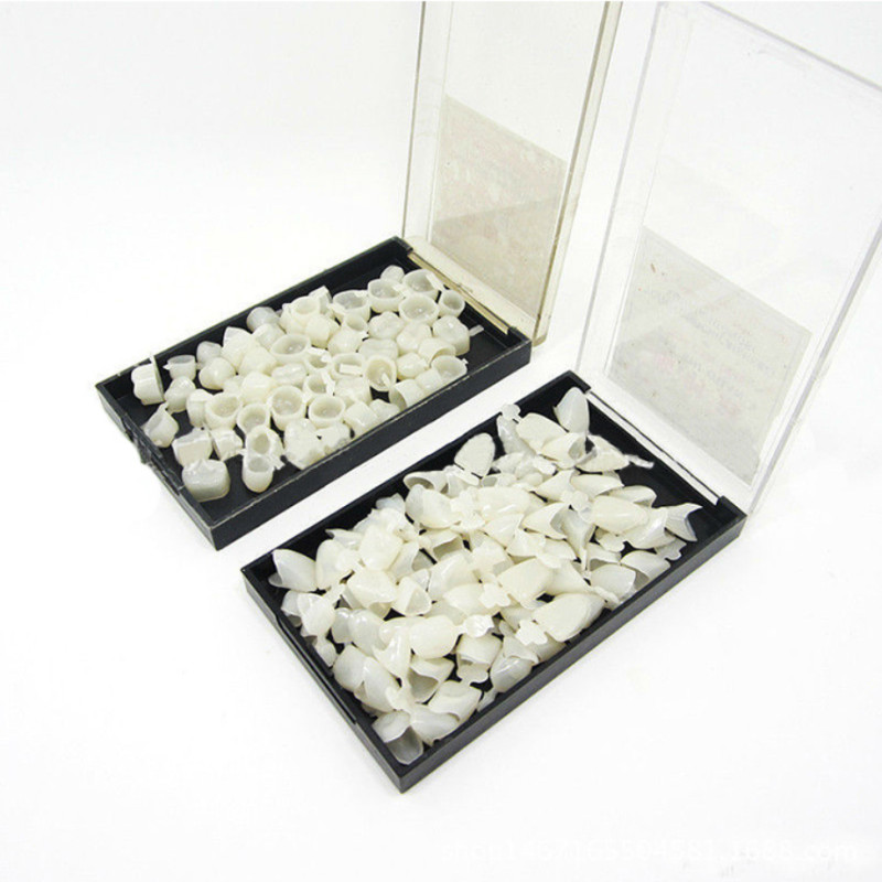 50Pcs/Box Dental Crowns Resin Porcelain Temporary Teeth Crown Oral Care Anterior Molar Crown Teeth Whitening