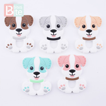 1Pc Baby Teether Silicone Husky Dog Pendant Food Grade Silicone Accessories Teet