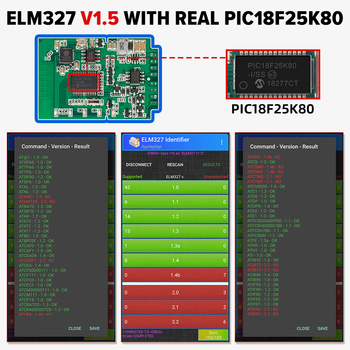 ELM327 V1.5 OBD2 Scanner WiFi BT PIC18F25K80 Chip OBDII Diagnostic Tools for IPhone Android PC ELM 327 Auto Code Reader 2