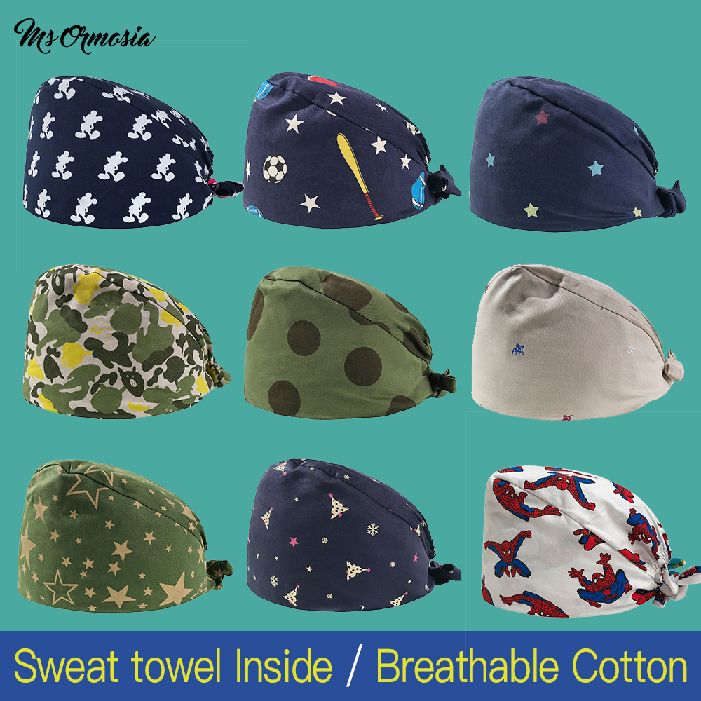 Clearance Veterinarian Surgical Caps Medical Scrub Caps For Women Men Hospital OR Doctor Nurse Work Hat Dentist Skull Hats New