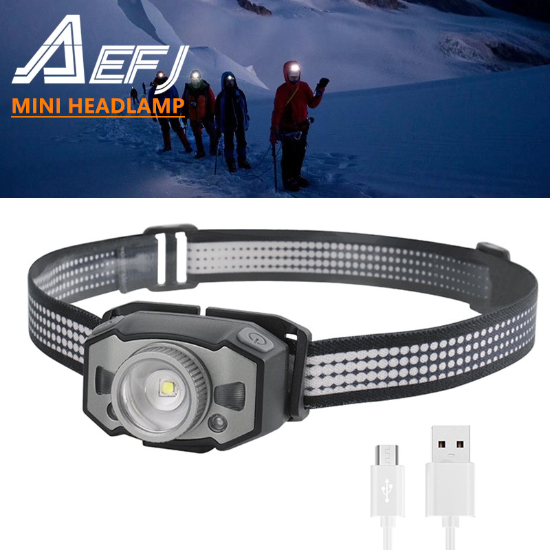 NEW LED Motion IR Sensor Mini Headlamp XP-G2 2 3030 Red Light 5-Mode Zoom Headlight Rechargeable Head Torch Hunting Light