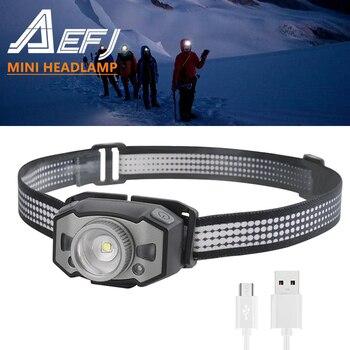 NEW LED Motion IR Sensor Mini Headlamp XP-G2+2*3030 Red Light 5-Mode Zoom Headlight Rechargeable Head Torch Hunting Light