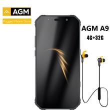 Agm a9 + jbl fone de ouvido fhd + jbl co marca smartphone 4g android 8.1 telefone áspero ip68 impermeável nfc quad box alto falantes