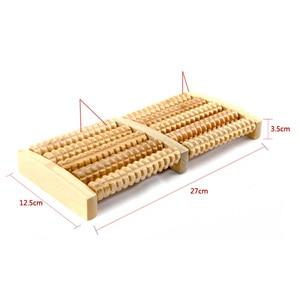 Image 2 - Rouleau de Massage pour les pieds en bois brut, 5 réflexologie, appareil de Massage relaxant, Anti Cellulite, cadeau, Spa, soins pour les pieds