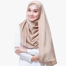 Women Solid Bubble Chiffon Scarf Hijab Wrap Lady Plain Popular Headband Muslim Hijabs Scarves Winter Big Pashmina