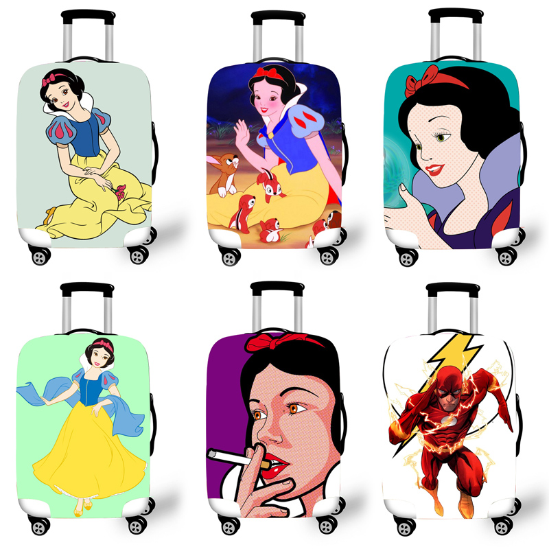 Elastic Luggage Protective Cover Case For Suitcase Protective Cover Trolley Cases Covers 3D Travel Accessories Snow Pattern T020