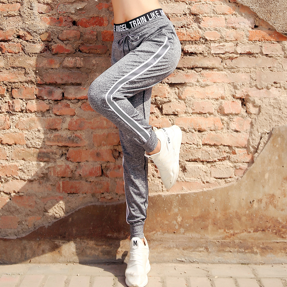 UVINI Sports Pants Autumn Women Loose Yoga Pants Sports Trousers Exercise Fitness Running Jogging Trousers Workout