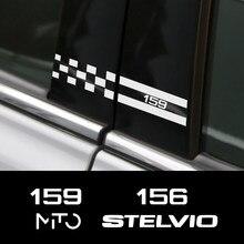 Pegatinas del pilar del coche para Alfa Romeo, Giulia, Giulietta, 159, 156, MITO, Stelvio 147, sporttiva, accesorios de decoración para coche, 2 uds.