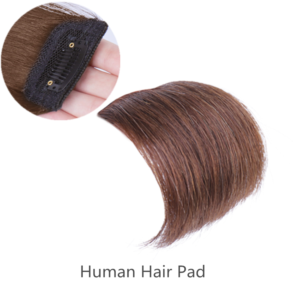 Remy Human Hair Padding for Volume Hair Padding Online Hair Clip with Pad Hair Pads for Women/men Hair Pieces Hair Clip Pad