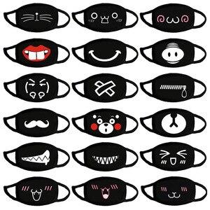 Image 2 - Schöne Schwarz ausdruck maske staubdicht sicherheit Baumwolle Masken sport laufschuhe cartoon Party maske Mode Unisex Halten Atemschutz