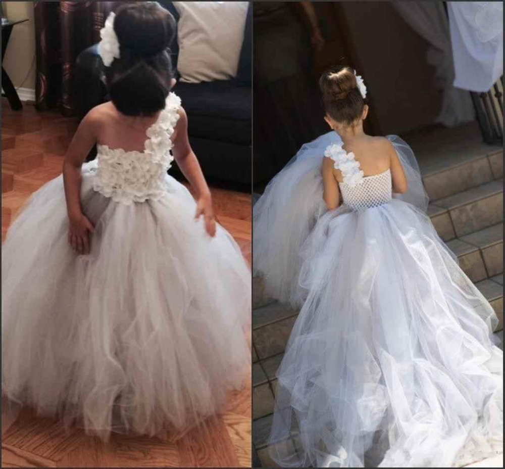 Flower-Girl-Dresses Sweep-Train Weddings Girls Princess Elegant for First-Communion-Gowns