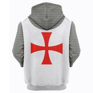 Image 5 - 3D Printed Knights Armor Templar Tops Streetwear Hoodie Long Sleeve Pullover Hoodie