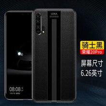 Luxury Handmade อุปกรณ์เสริมสำหรับ Huawei Honor 20 กรณีหนังแท้สำหรับ Huawei Honor 20 pro Soft TPU กันชน