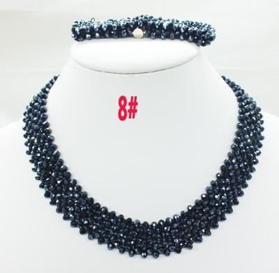 Новая цена-Африка, Нигерия, самый популярный ювелирный набор с кристаллами для невесты - Окраска металла: 8
